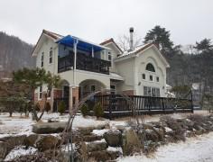 42평 눈내리는 인제 목조주택
